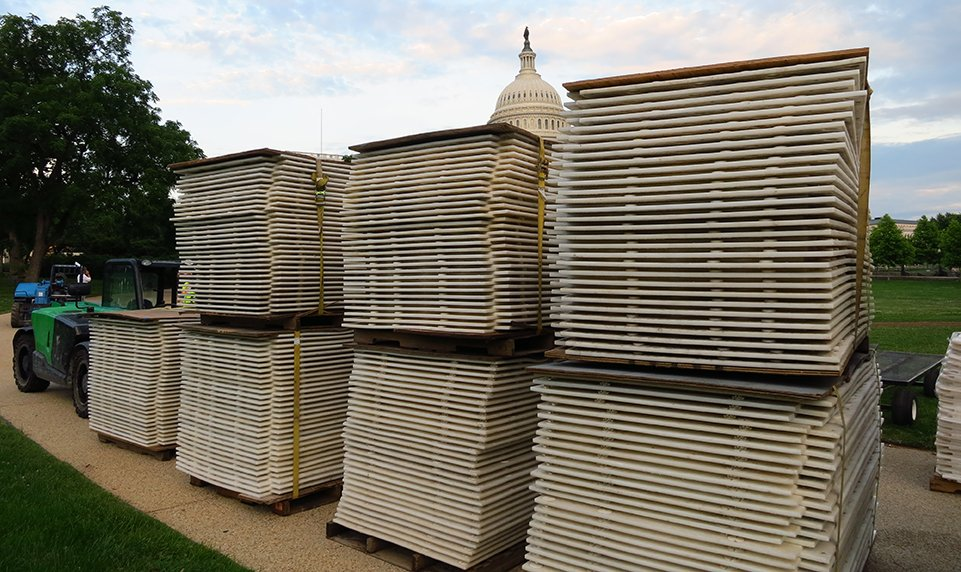 Matrax 4x4 panels are easy to store and install