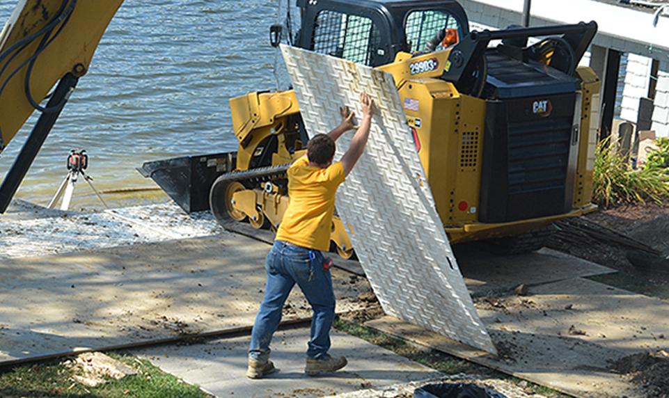 Matrax 4x8 lightweight ground protection mats