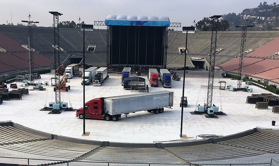 Portable event flooring for heavy equipment and large crowds