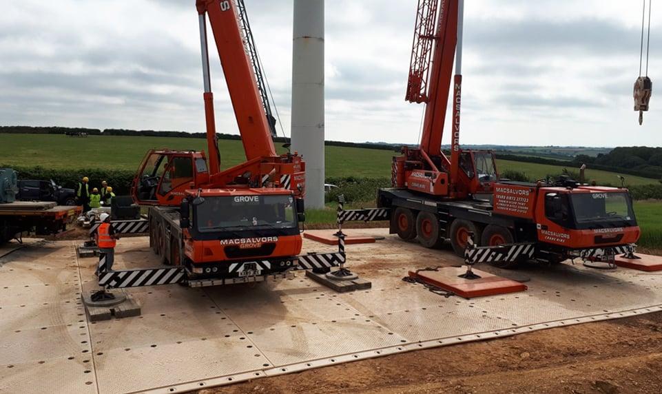 SignaRoad composite mats for heavy haul loads